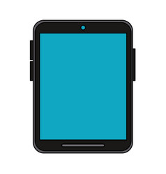 Colorful graphic tablet tech device icon vector