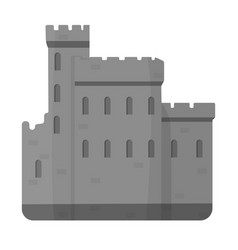 Concrete castle with peaks in scotland vector