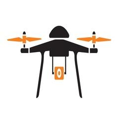 Drone icon vector image vector image