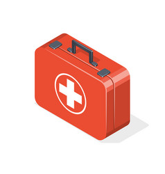 first aid kit isolated on white background vector image vector image