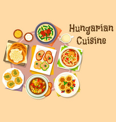 Hungarian national cuisine icon for menu design vector