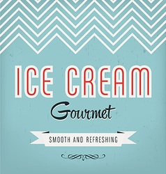 Ice Cream Label vector image vector image