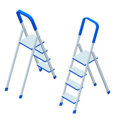 isometric stepladder isolated on white vector image
