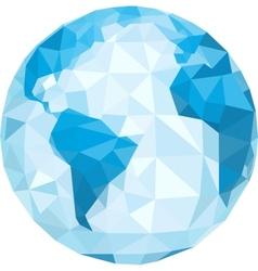 Polygonal globe vector