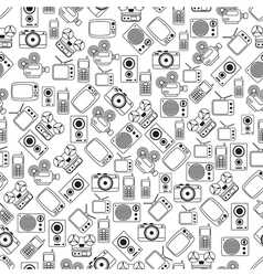Retro electronic seamless pattern vector