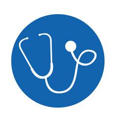 round icon stethoscope cartoon vector image
