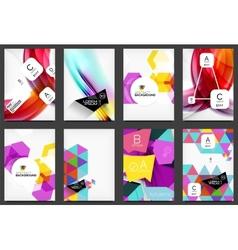 Set of modern flyers brochures vector image