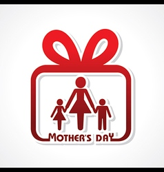 Stylish happy mothers day greeting stock vector