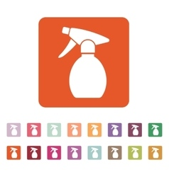 The sprayer icon Atomizer symbol Flat vector image