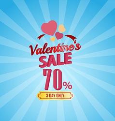 Valentines day sale 70 percent typographic vector
