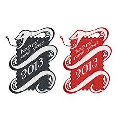 Vintage snake stamps vector image vector image