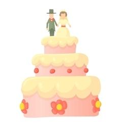 Wedding cake icon cartoon style vector image