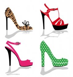 Women shoes collection vector