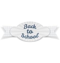 Back to school sale paper banner with text vector