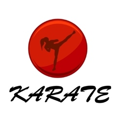 Woman doing karate vector