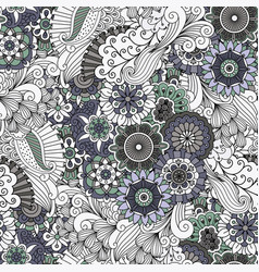 Decorative grey floral ornamental pattern vector