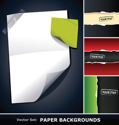 Set of paper backgrounds vector