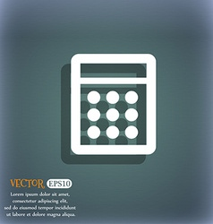 Calculator sign icon bookkeeping symbol on the vector