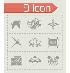 China icon set vector