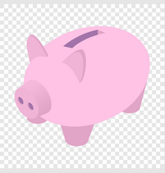 Piggy bank isometric 3d icon vector image