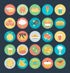 Food colored icons 2 vector