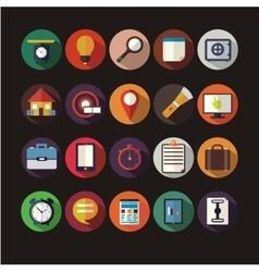 Assorted round icon vector