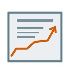 Icon growth report diagram chart business vector