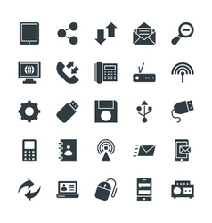 Communication cool icons 3 vector