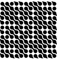 Abstract background of black connected dots in vector