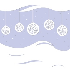 Beautiful festive greeting card with balls vector image vector image