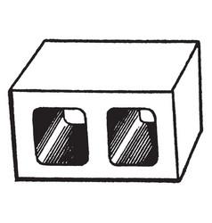 Box parallel vintage vector