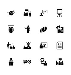 business presentation - flat icons vector image vector image