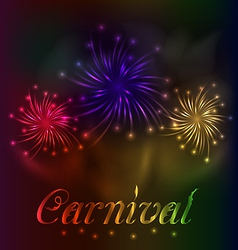 Colorful fireworks background for Carnival party vector image
