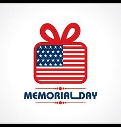 Creative memorial day greeting stock vector
