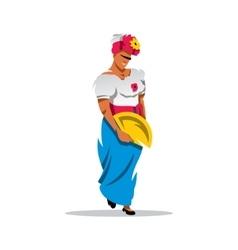 Cuban woman cartoon vector