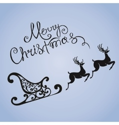 deer merry Christmas poster template vector image