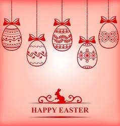 Easter contour blur vector