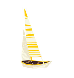 Flat travelling sailboat sailing yacht vector