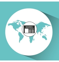 globe news concept icon graphic vector image