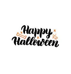 Happy halloween isolated lettering vector