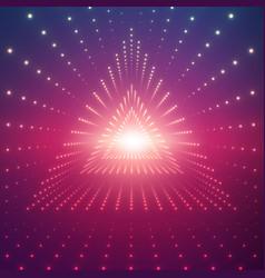 Infinite triangular tunnel of vector