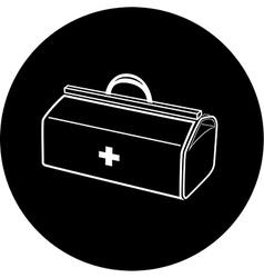 Medical suitcase icon vector