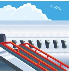 Modern jet airliner vector