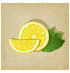 old background with lemon vector image