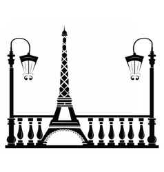 Paris street walkway vector