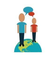persons world talking chatting vector image