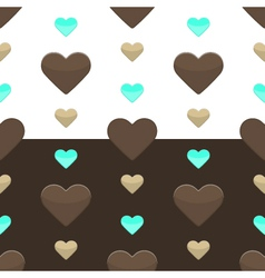 Seamless hearts pattern two colours vector