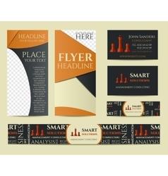 Smart solutions business branding identity set vector