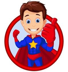 superhero cartoon in a frame vector image