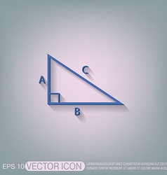 Triangle math symbol icon geometry learning math vector